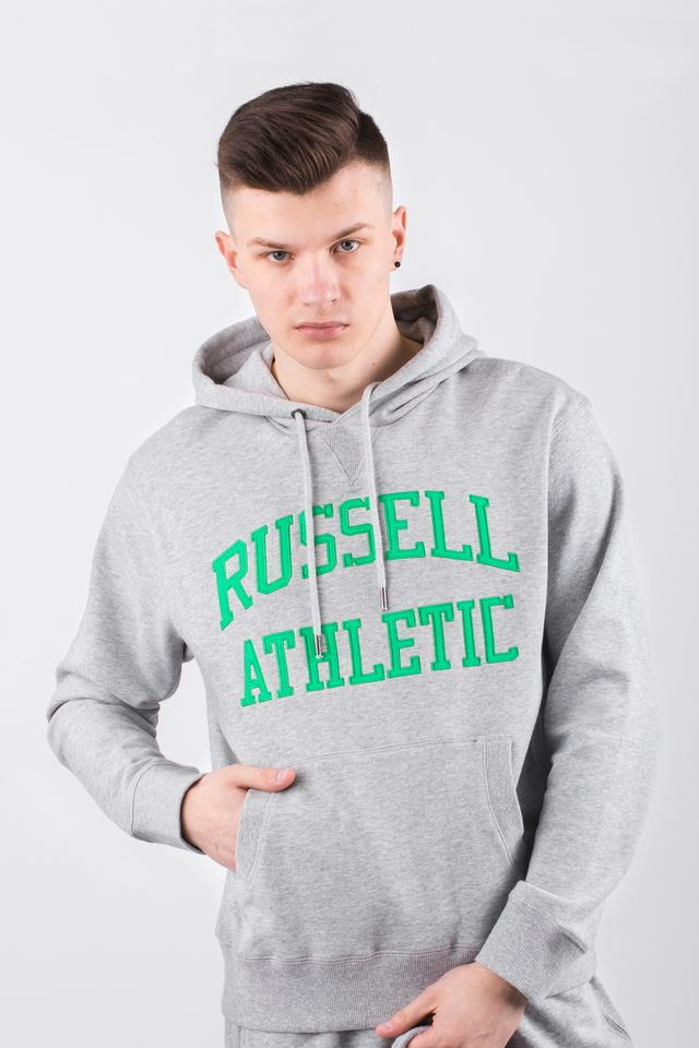 Russell Athletic HOODY SWEATSHIRT 091 NEW GREY MARL A90041-091