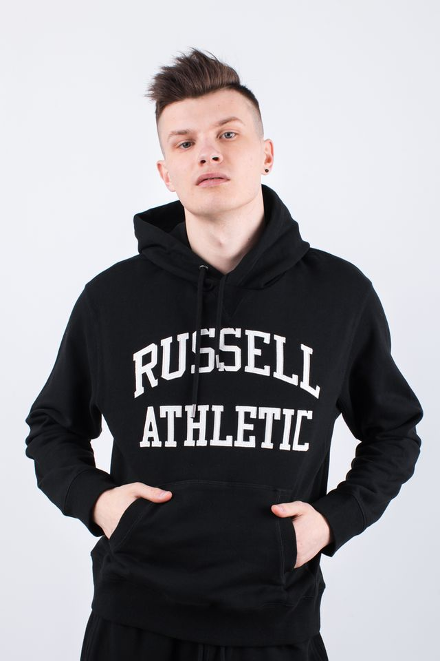 Russell Athletic HOODY SWEATSHIRT 099 BLACK A90041-099