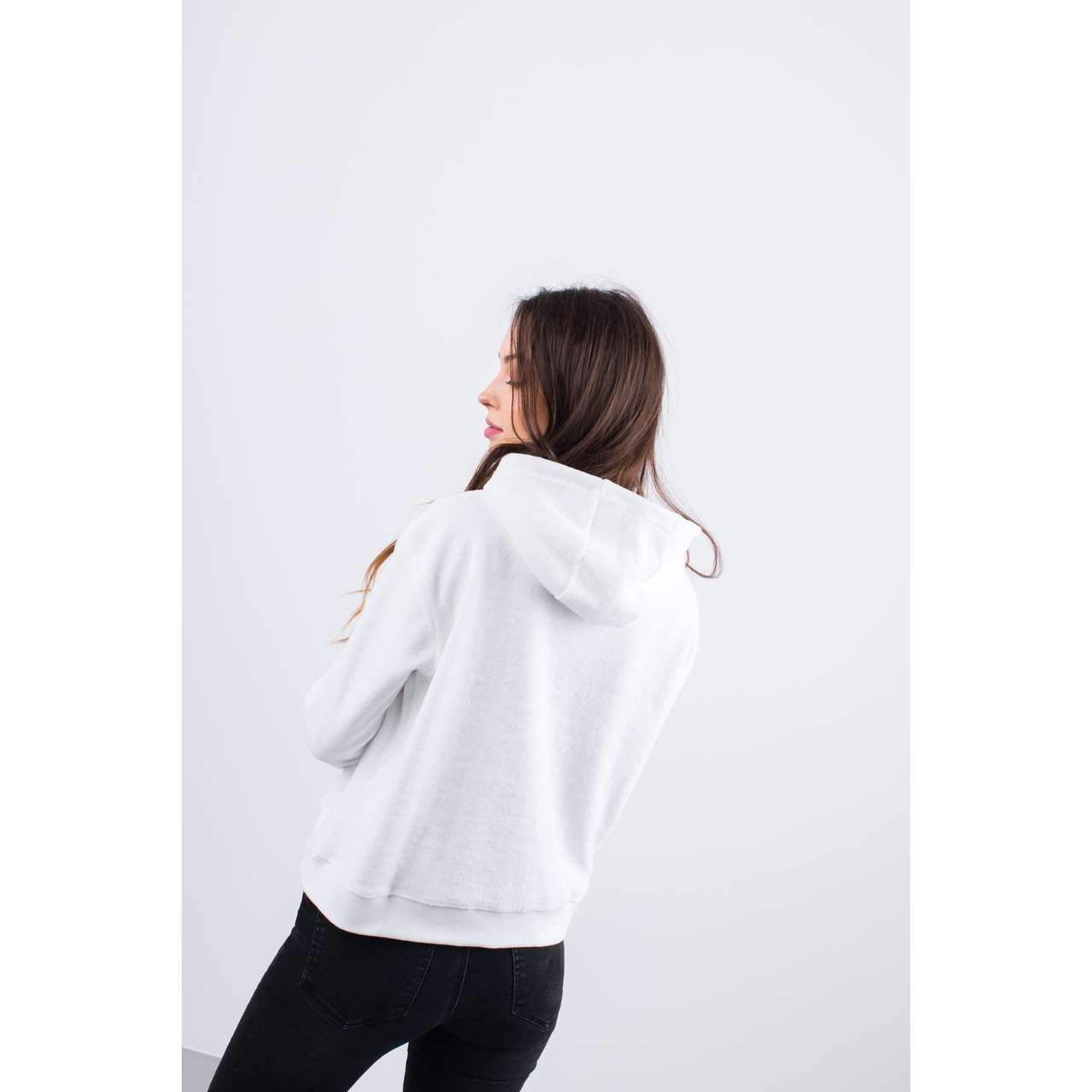 Bluza Russell Athletic  <br/><small>HOODY SWEATSHIRT 001 WHITE </small>  E91051-001