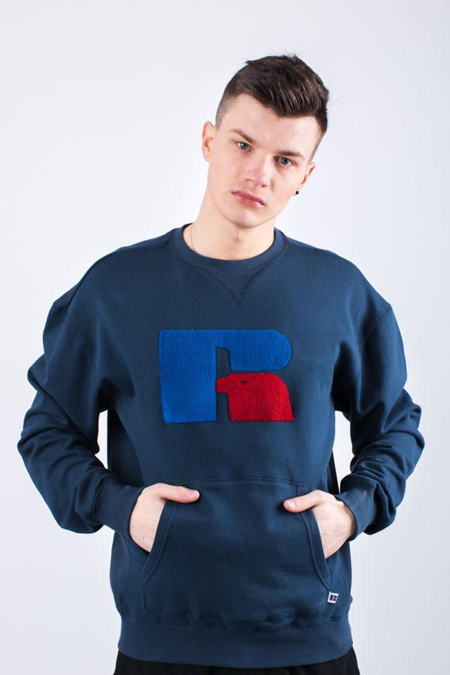 Bluza Russell Athletic  <br/><small>POCKETED SWEATSHIRT 190 NAVY </small>  E96061-190
