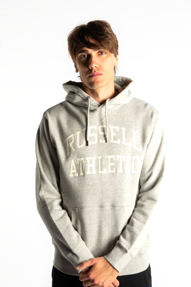 Russell Athletic PULL OVER HOODY 091 NEW GREY MARL A90872-091