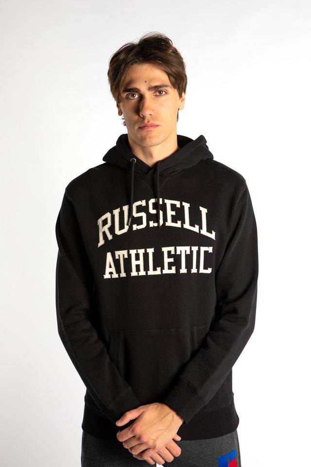 Russell Athletic PULL OVER HOODY 099 BLACK A90872-099