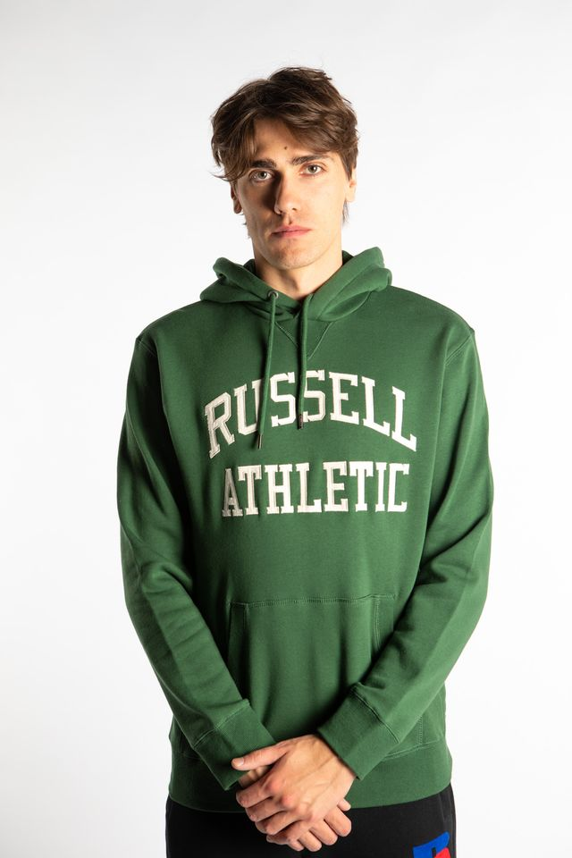 Russell Athletic PULL OVER HOODY 263 PINE GREEN A90872-263