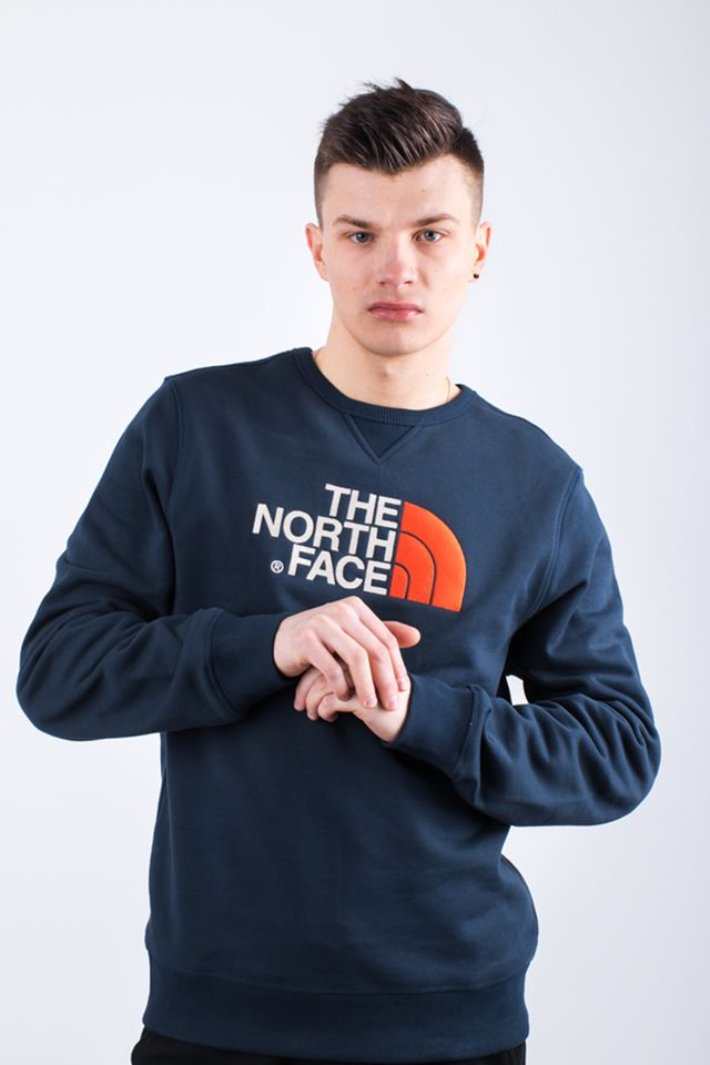 The North Face M DREW PEAK CREW BER URBAN NAVY/FIERY RED T92ZWRBER