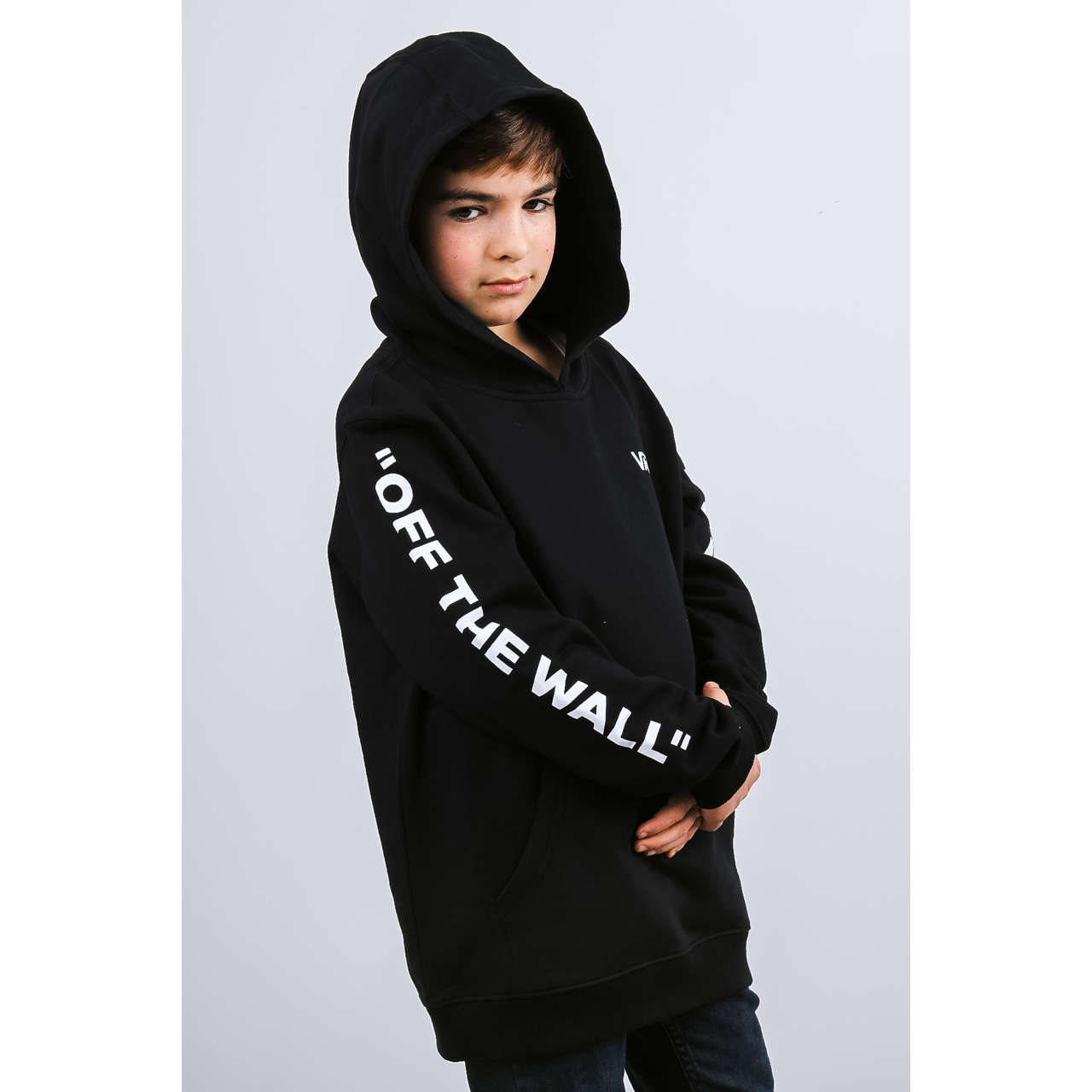 Bluza Vans  <br/><small>BY LEFT CHECK PO BOY BLK BLACK </small>  VN0A3W65BLK