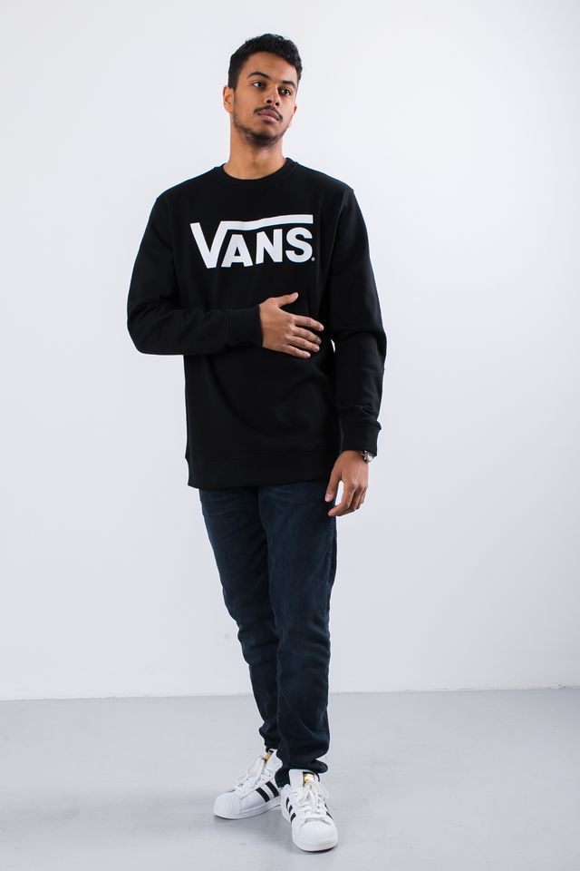 Bluza Vans  <br/><small>CLASSIC CREW Y28 BLACK/WHITE </small>  VN000YX0Y28