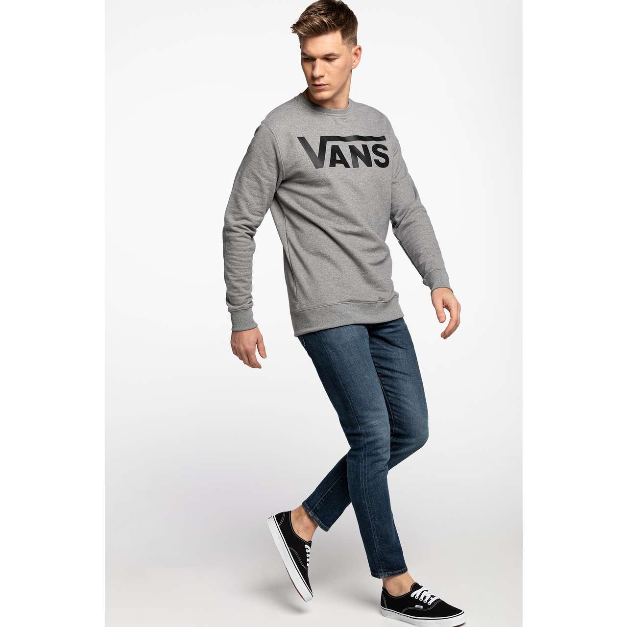Bluza Vans  <br/><small>CLASSIC CREW II ADY CEMENT HEATHER/BLACK </small>  VN0A456AADY