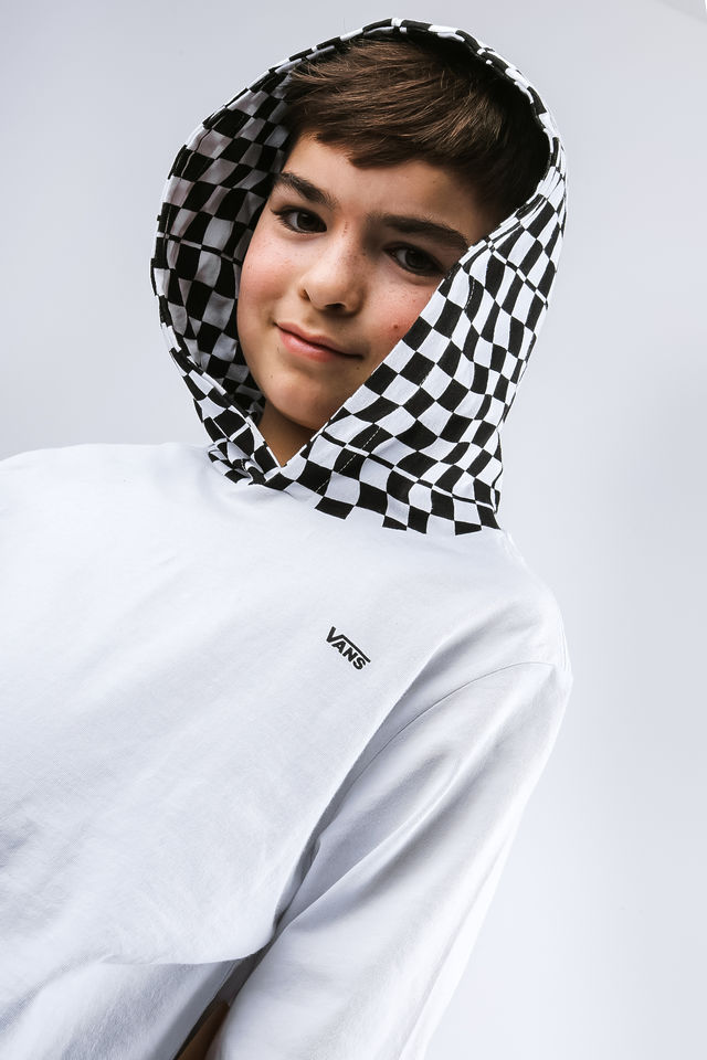 Bluza Vans  <br/><small>VAN DOREN HOODED TDC WHITE/CHECKERBOARD </small>  VN0A3HF0TDC
