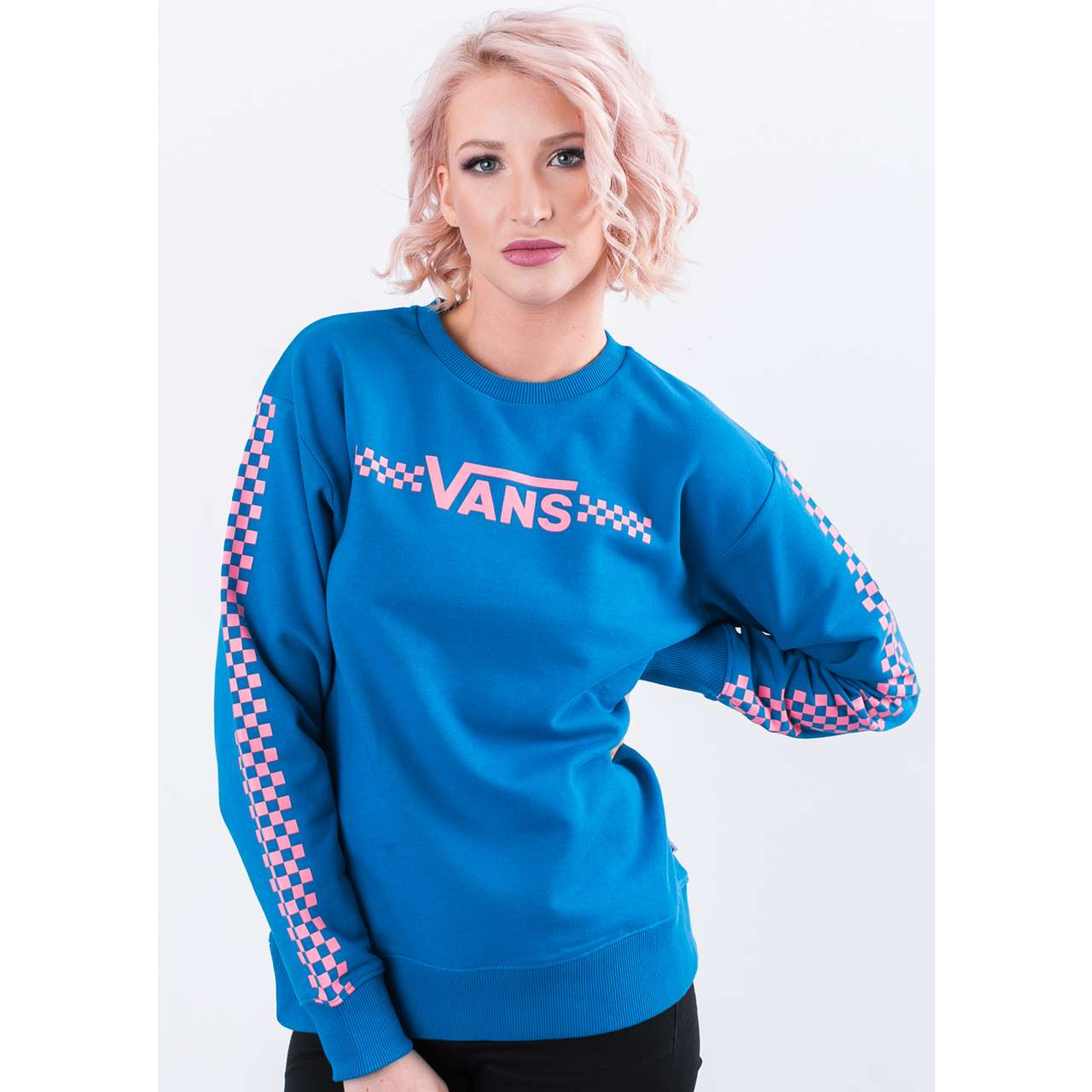 Bluza Vans  <br/><small>FUNNIER TIMES CREW UUC BLUE SAPPHIRE </small>  VN0A3UNLUUC1