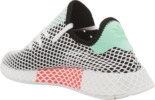 Buty adidas  <br/><small>DEERUPT RUNNER CORE BLACK/EASY GREEN/FTWR WHITE </small>  B28076