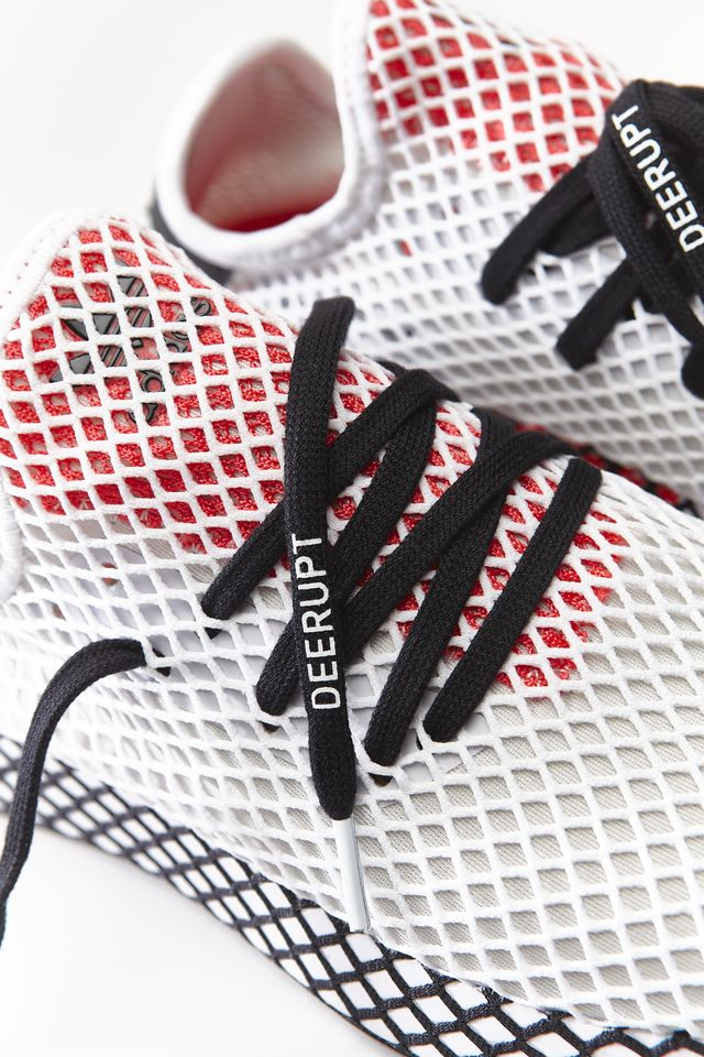 adidas DEERUPT RUNNER FOOTWEAR WHITE/CORE BLACK/SHOCK RED DB2686