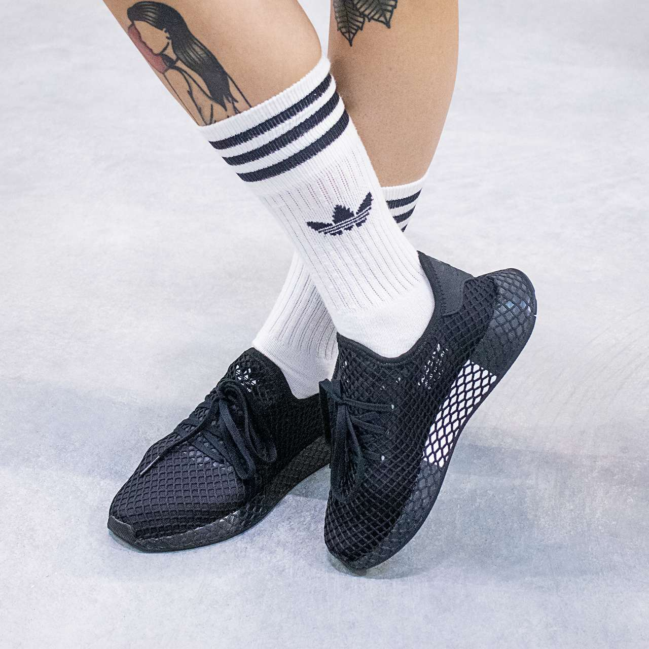 Buty adidas  <br/><small>DEERUPT RUNNER J Core Black/Core Black </small>  B41877