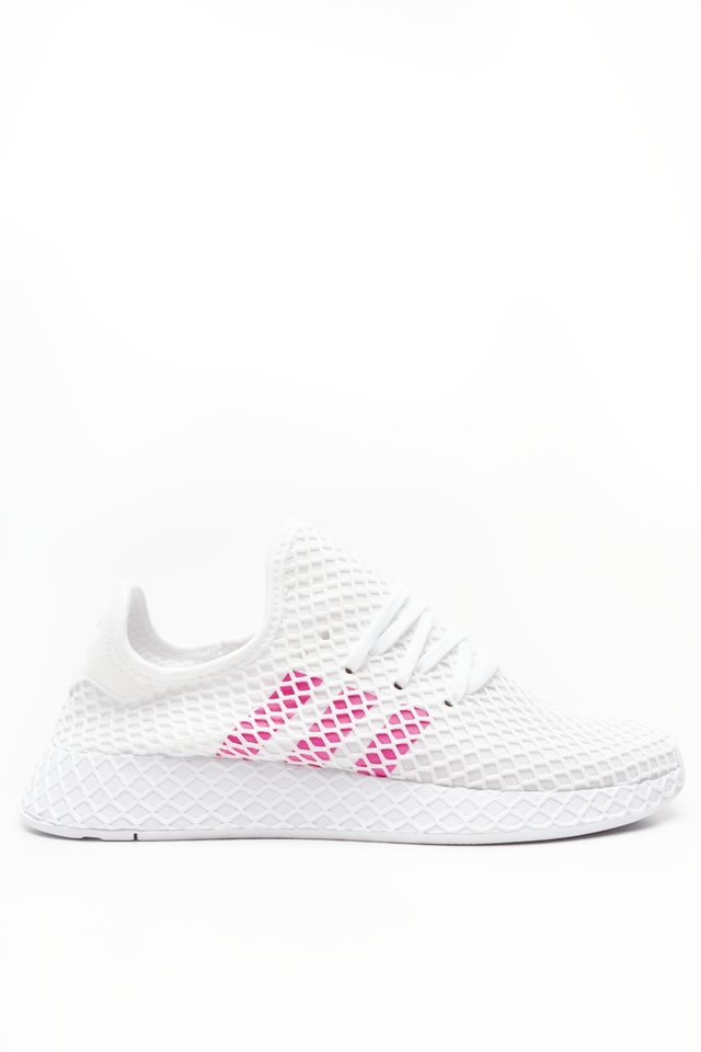 adidas DEERUPT RUNNER J 608 FOOTWEAR WHITE/SHOCK PINK/CORE BLACK EE6608