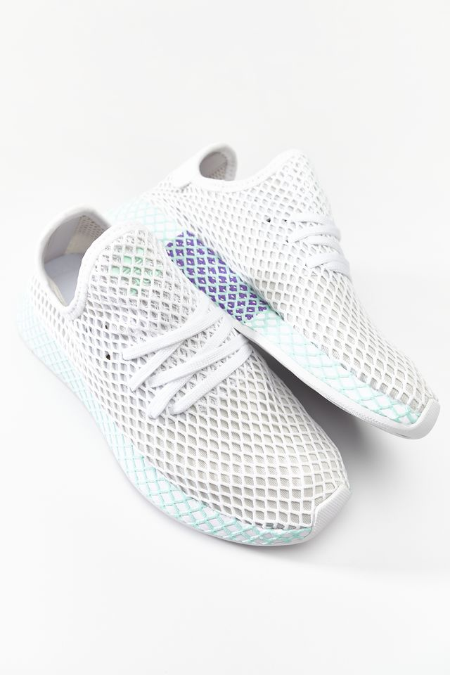 adidas DEERUPT RUNNER W FOOTWEAR WHITE/GREY ONE/CLEAR MINT CG6089