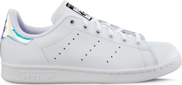 adidas STAN SMITH J 272 FOOTWEAR WHITE/METALLIC SILVER/FOOTWEAR WHITE AQ6272