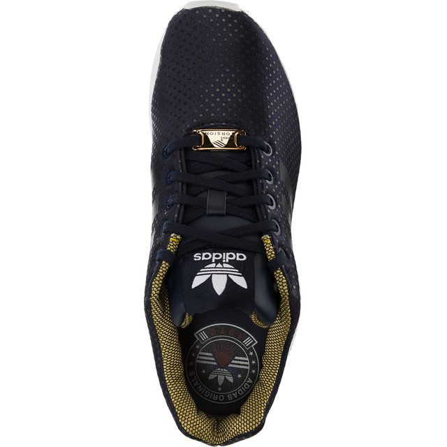 buty adidas zx flux złoto czarne