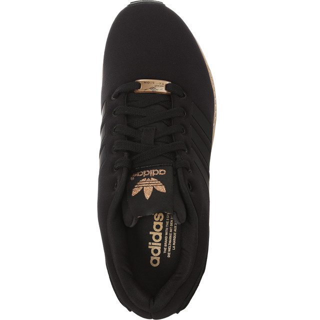 adidasy czarne ze złotą podeszwą