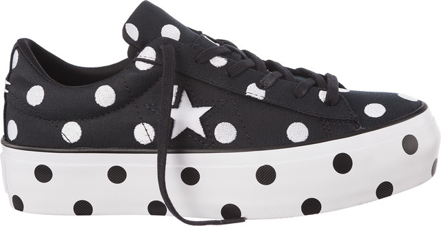 Converse C560695 ONE STAR PLATFORM BLACK/WHITE/WHITE