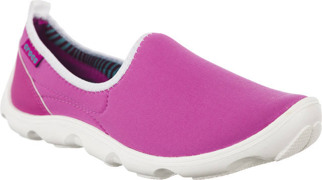 Crocs Duet Busy Day Skimmer W Vibrant Violet White 14698-5A9