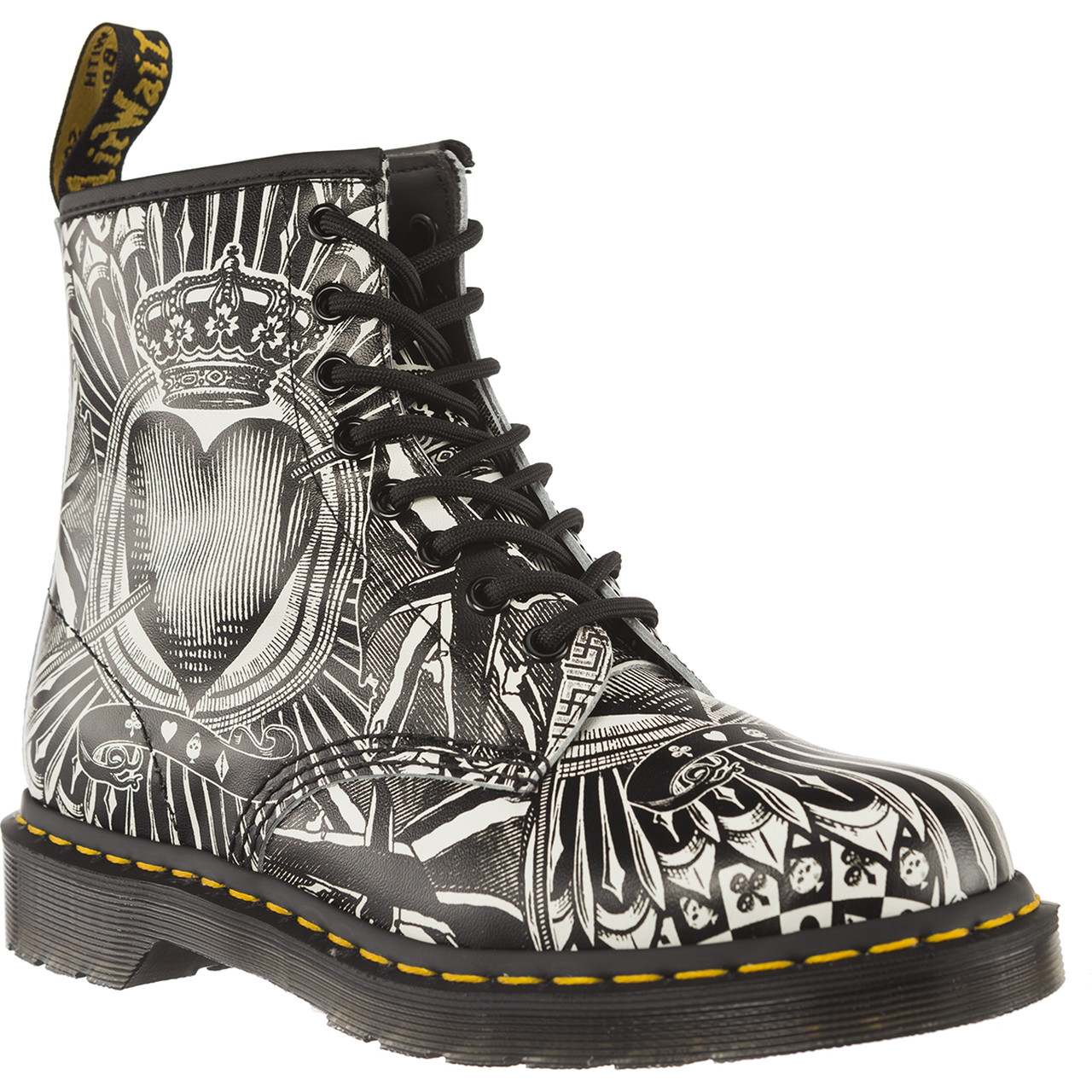 Buty Dr. Martens  <br/><small>1460 PLAYING CARD EGRET PLAYING CARD BACKHAND </small>  23507112