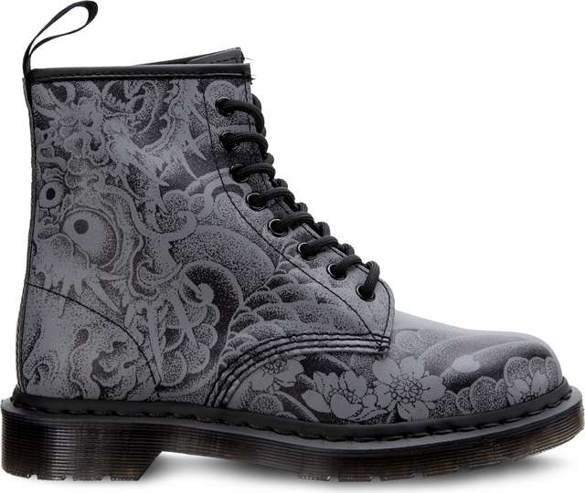Dr. Martens 1460 OT BLACK/GUNMETAL OT TATTOO BACKHAND DM24239001
