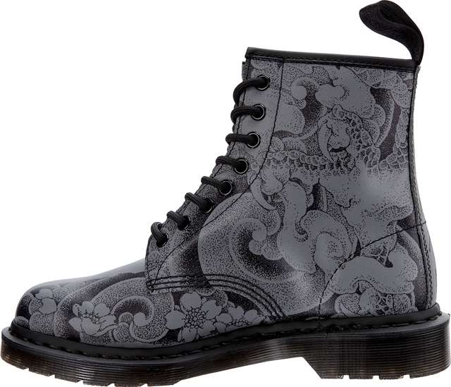 Buty Dr. Martens  <br/><small>1460 OT BLACK/GUNMETAL OT TATTOO BACKHAND </small>  DM24239001
