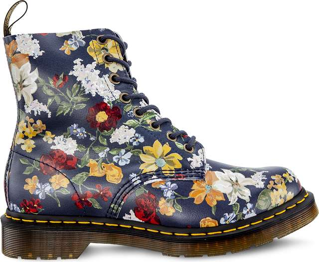 Dr. Martens DARCY FLORAL 1460 PASCAL DM'S NAVY DARCY FLORAL BACKHAND STRAW GRAIN DM23876417