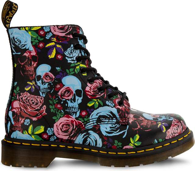Dr. Martens 1460 PASCAL ROSE MULTI ROSE FANTASY BACKHAND STRAW GRAIN DM24427102