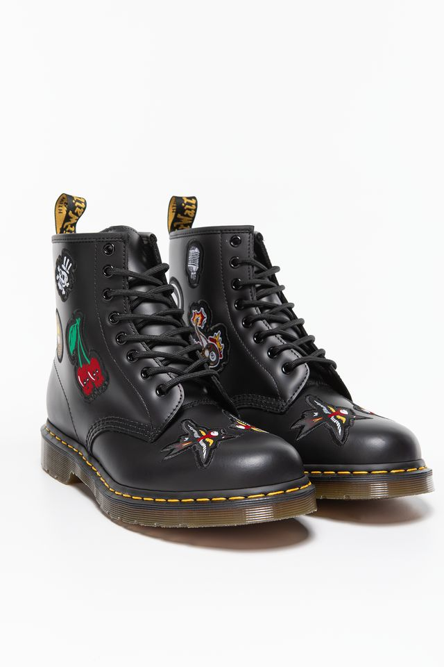 067172daa5ae0 ... Buty Dr. Martens <br/><small>1460 SMOOTH PATCH BLACK ...