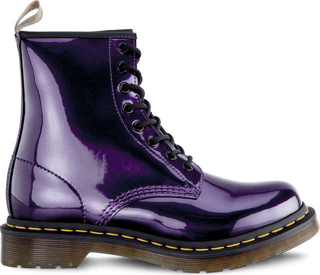 Dr. Martens VEGAN 1460 CHROME DARK PURPLE CHROME PAINT METALLIC DM23922514