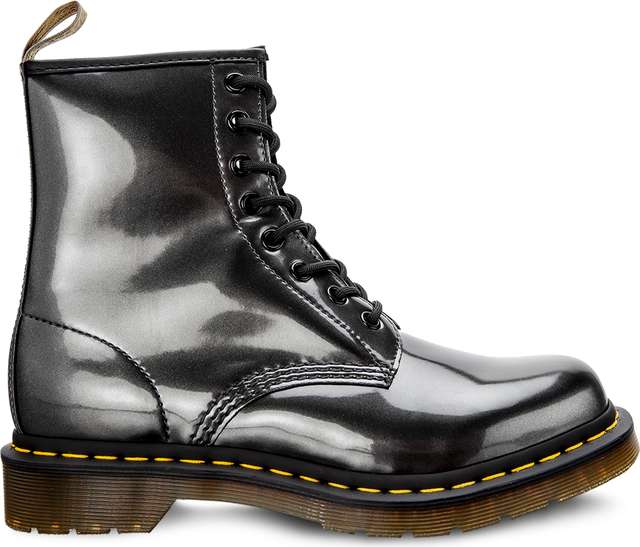 Dr. Martens VEGAN 1460 CHROME GUNMETAL CHROME PAINT METALLIC DM23922029