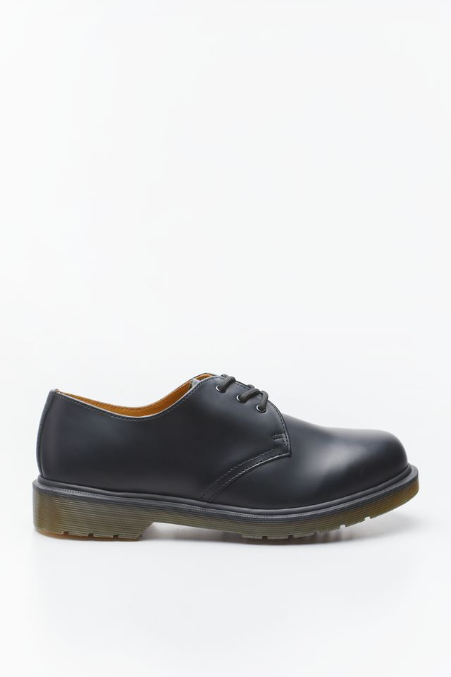 BLACK 1461 PLAIN WELT SMOOTH LEATHER OXFORD SHOES