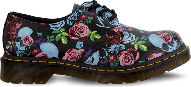 Dr. Martens 1461 ROSE ROSE FANTASY BACKHAND STRAW GRAIN MULTI DM24428102