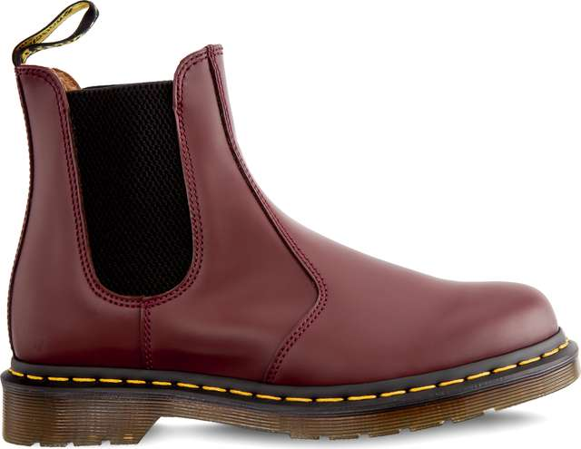 Dr. Martens 2976 Yellow Stitch Chelsea Boot Cherry Red DM22227600