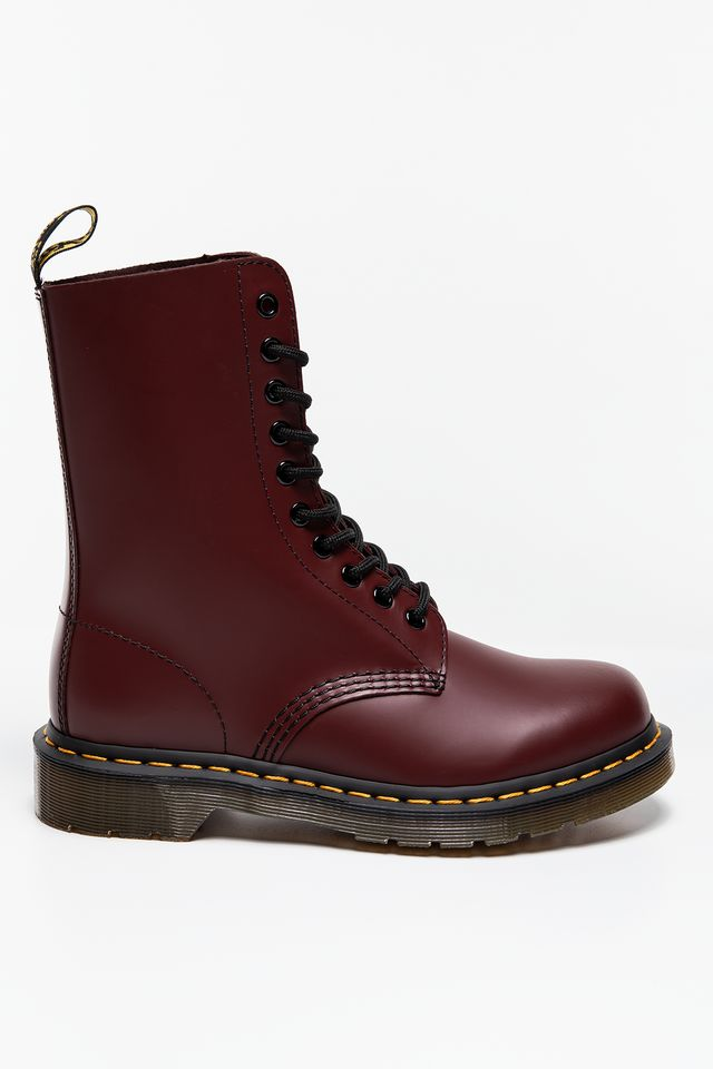 CHERRY RED 1490 10 Eye Boot Cherry Red Smooth