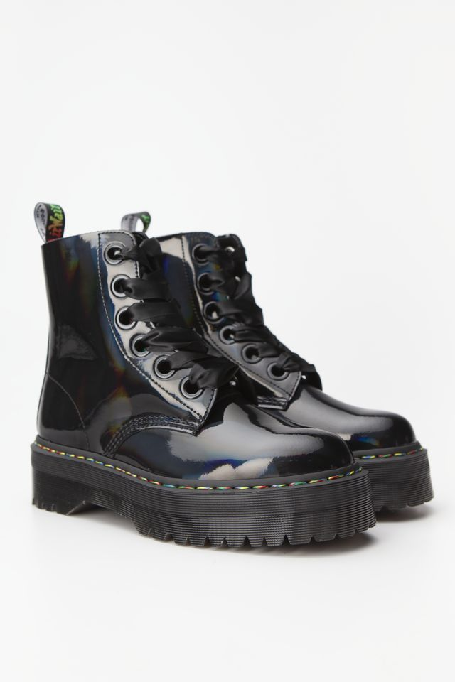 Buty Dr.Martens  <br/><small>MOLLY RAINBOW PATENT BLACK RAINBOW </small>  DM25088001