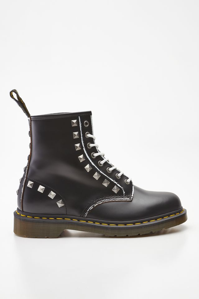 Dr. Martens 1460 STUD BLACK ROLLED VINTAGE SMOOTH DM25202001