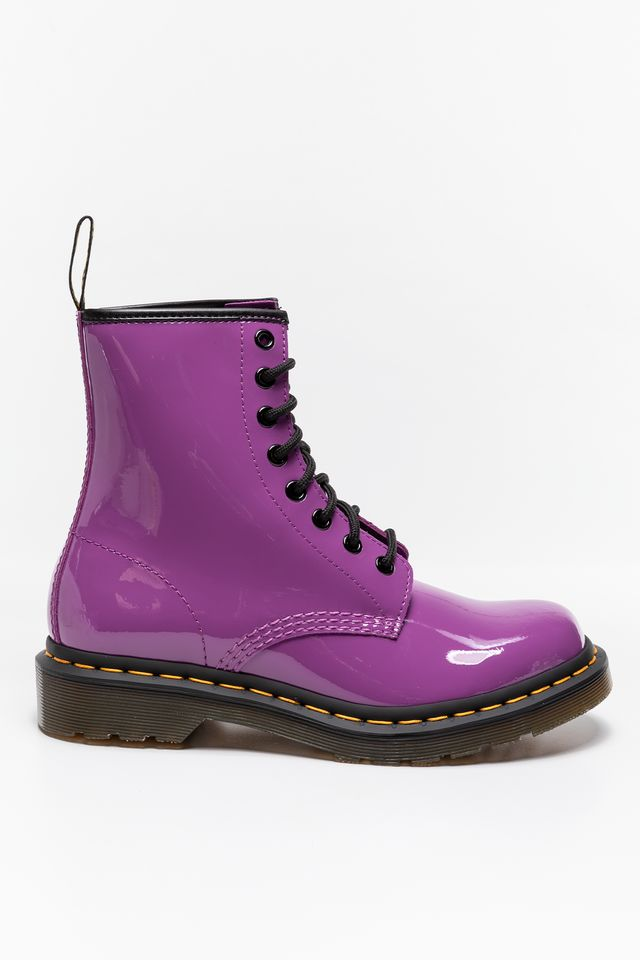 BRIGHT PURPLE MARTENSY 1460 PASCAL BRIGHT PURPLE PATENT LAMPER DM26425501