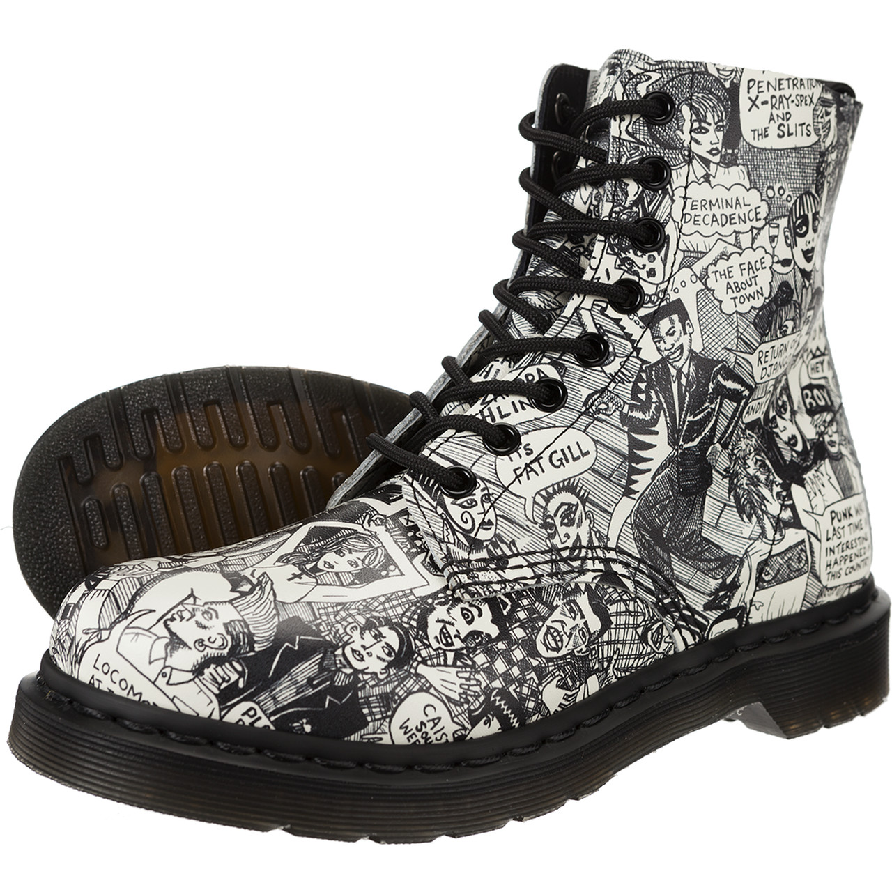 Outdoor Dr. Martens  <br/><small>Pascal Black Plus White </small>  DM13660004