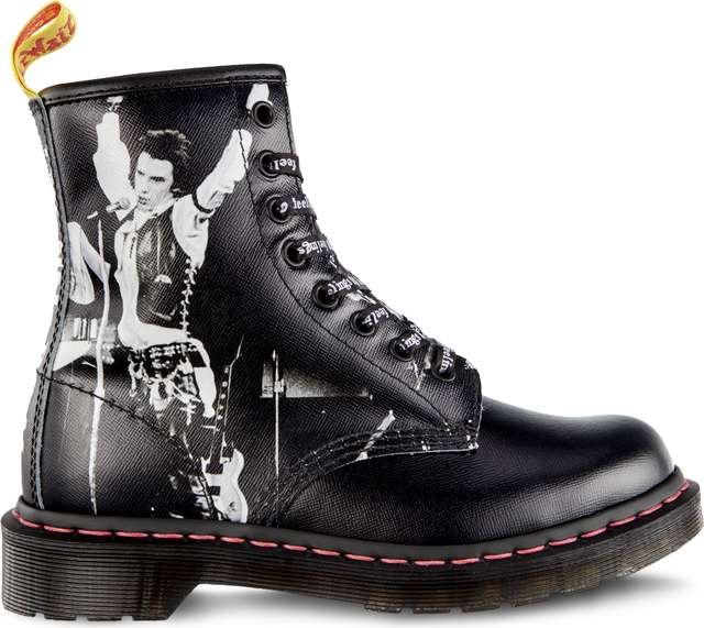 Dr. Martens 1460 SEX PISTOLS VICIOUS BLACK SEX PISTOLS BACKHAND STRAW GRAIN DM24789001