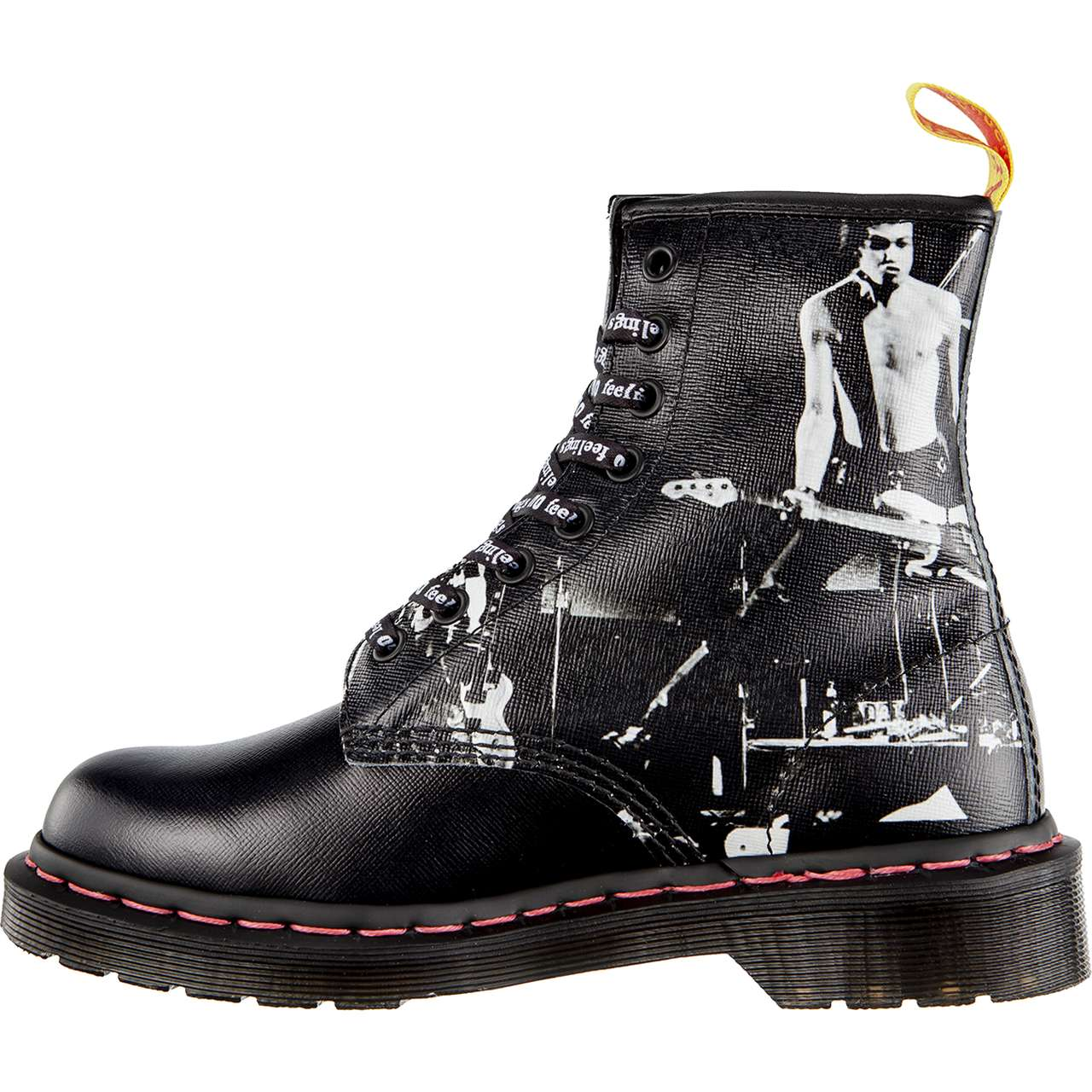 Buty Dr. Martens  <br/><small>1460 SEX PISTOLS VICIOUS BLACK SEX PISTOLS BACKHAND STRAW GRAIN </small>  DM24789001