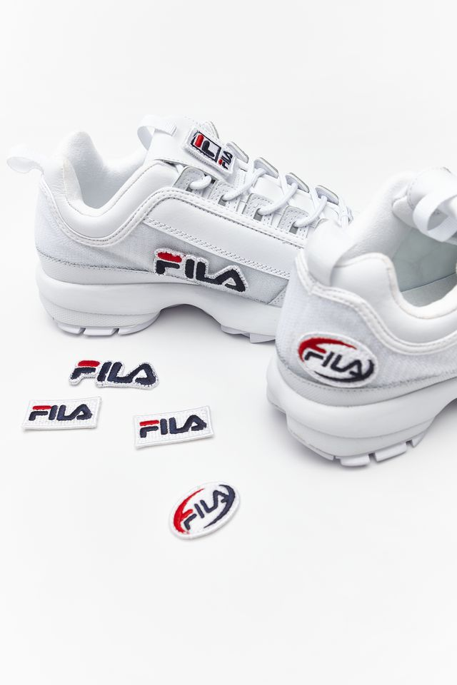 Fila DISRUPTOR II PATCHES WMN 100 WHITE 5FM00538-100