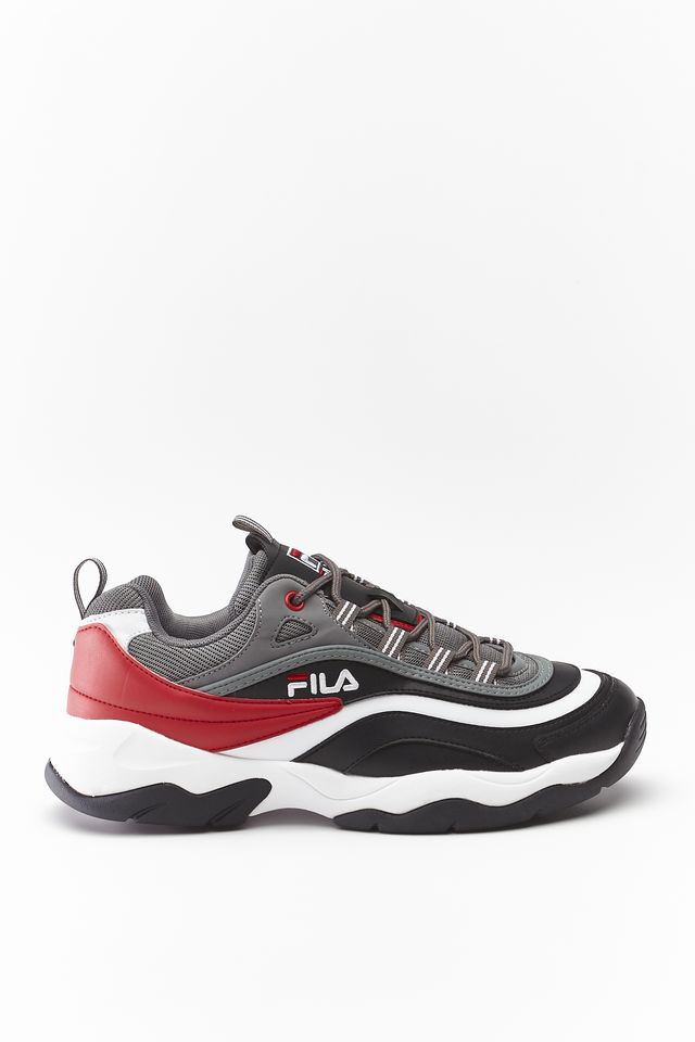 Fila RAY CB LOW 13B BLACK/CASTLEROCK/FILA RED 1010723-13B