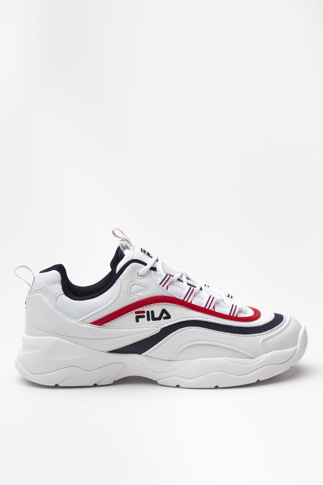 Buty Fila  <br/><small>RAY LOW 150 WHITE/FILA NAVY/FILA RED </small>  1010561-150