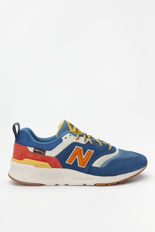 New Balance CM997HFB BLUE WITH VARSITY ORANGE