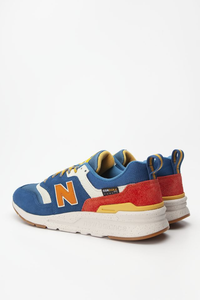 Buty New Balance  <br/><small>CM997HFB BLUE WITH VARSITY ORANGE </small>