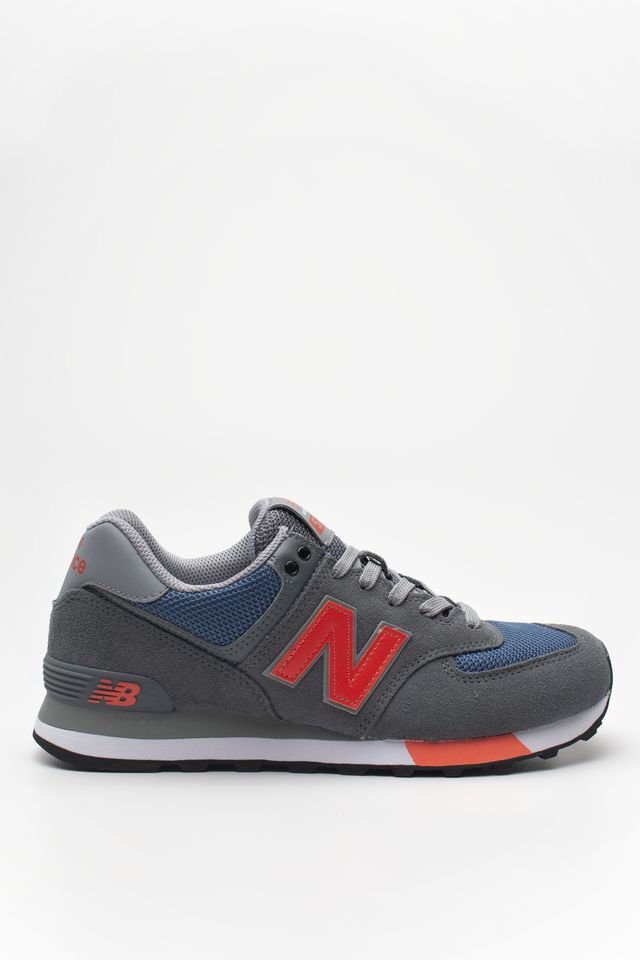 New Balance ML574NFO LEAD WITH DARK BLUE & CORAL GLOW