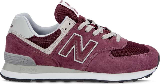 New Balance WL574ER BURGUNDY WITH WHITE