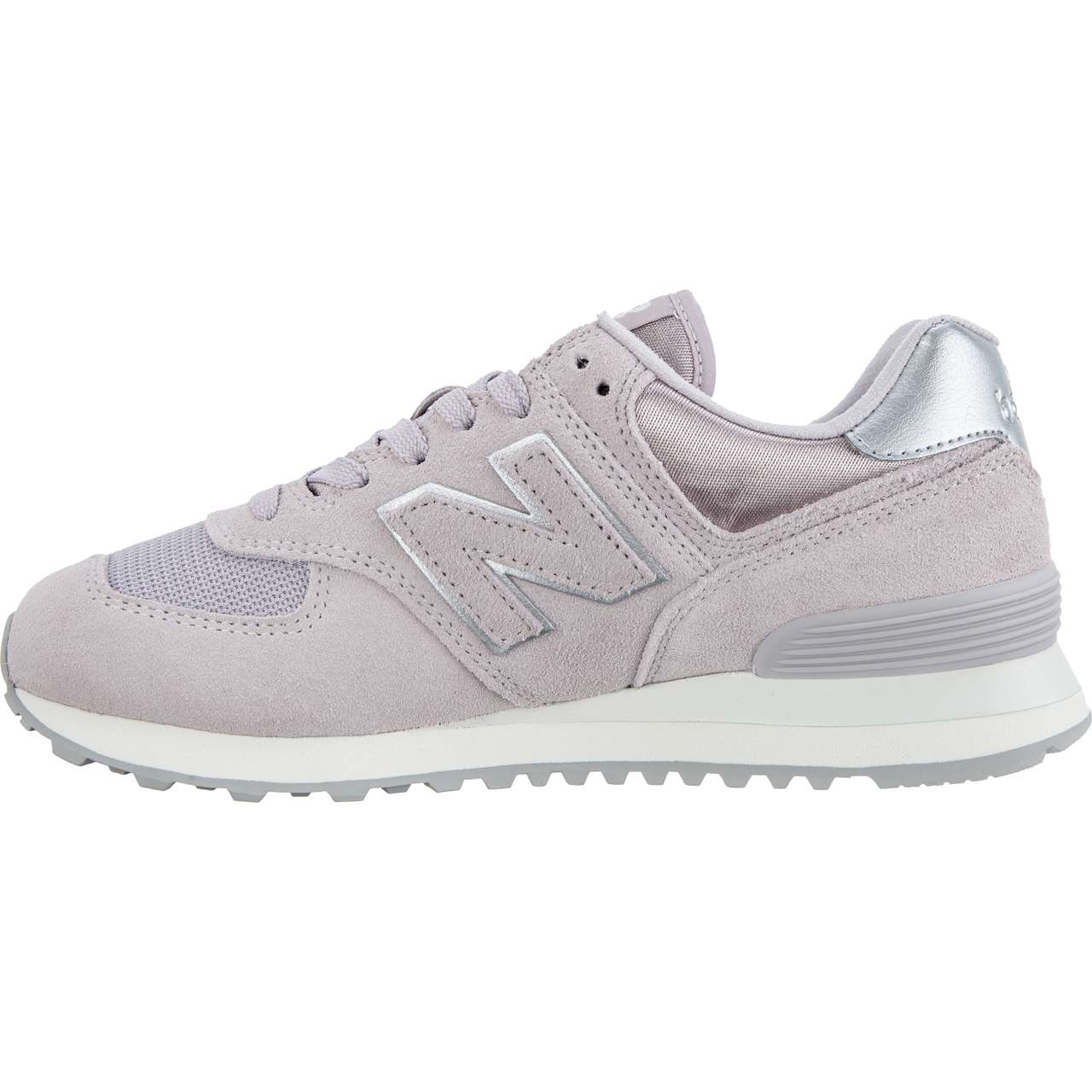 Buty New Balance  <br/><small>WL574LCS SATEEN TAB LIGHT CASHMERE WITH METALLIC SILVER </small>