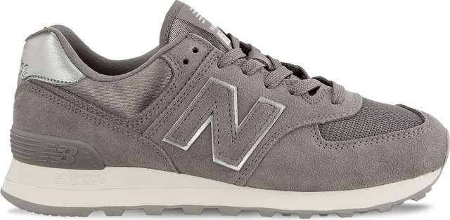 New Balance WL574MMS SATEEN TAB MARBLEHEAD WITH METALLIC SILVER